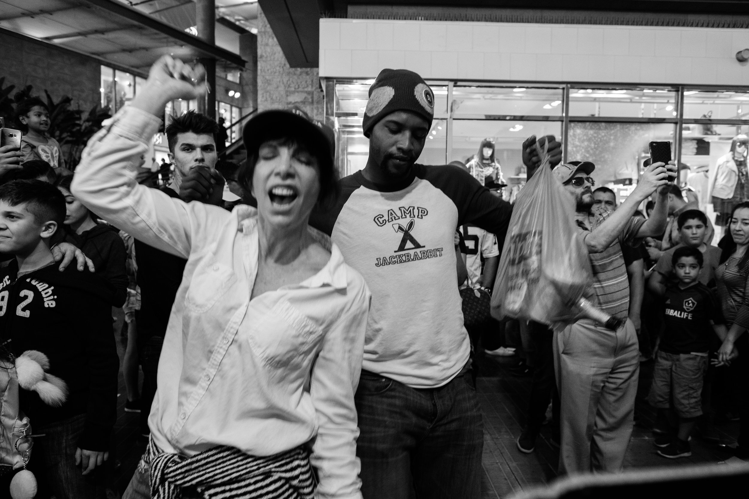 This Trump supporter and a gentleman who vocally opposed her just moments prior shared a mutual appreciation for music and dance, followed by a few laughs and what almost looked like a veiled understanding of one another.