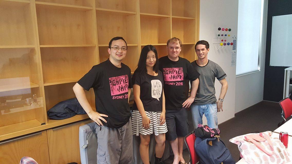 Monstergotchi team:Arvin Gunawan (Programming), Amy Tsai (2D Art/Animation), Michael Graham (Design), Joel Pinteric (Audio)