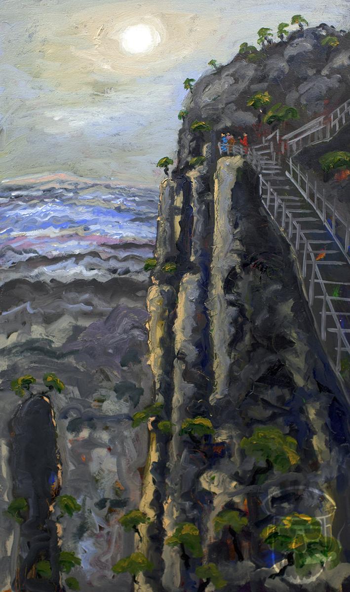 Cliff Climb Huangshan