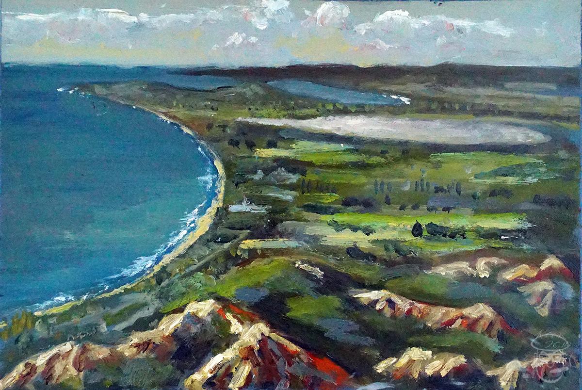 View of Gallipoli peninsula