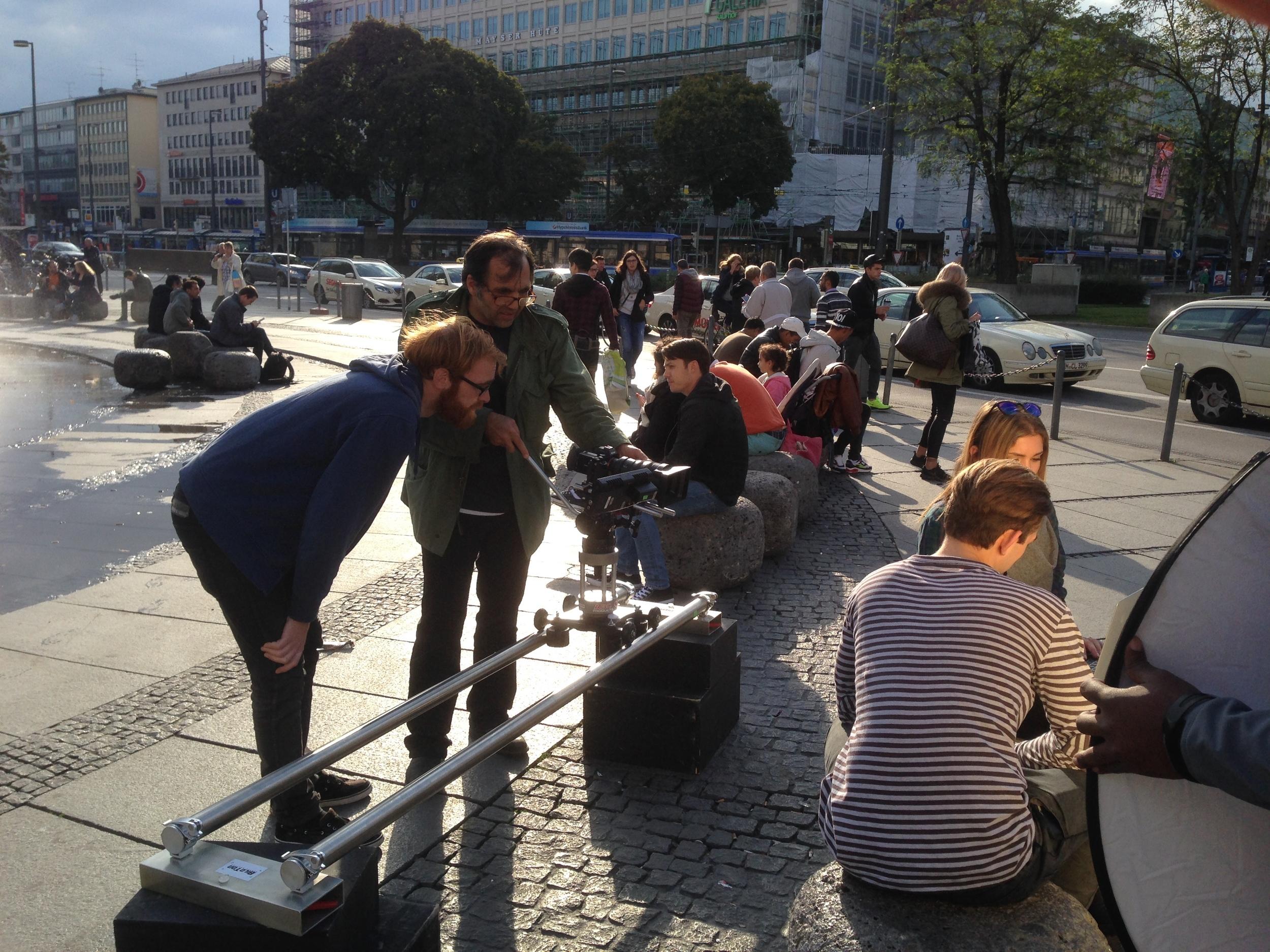 Dreh am Karlsplatz