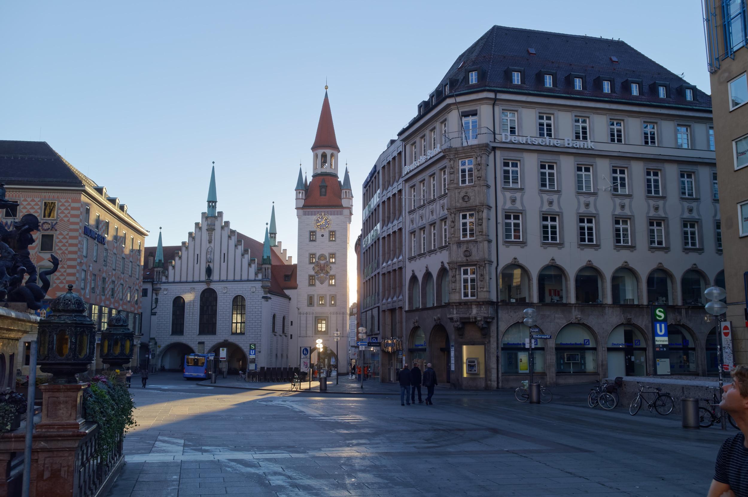 Drohne am Marienplatz