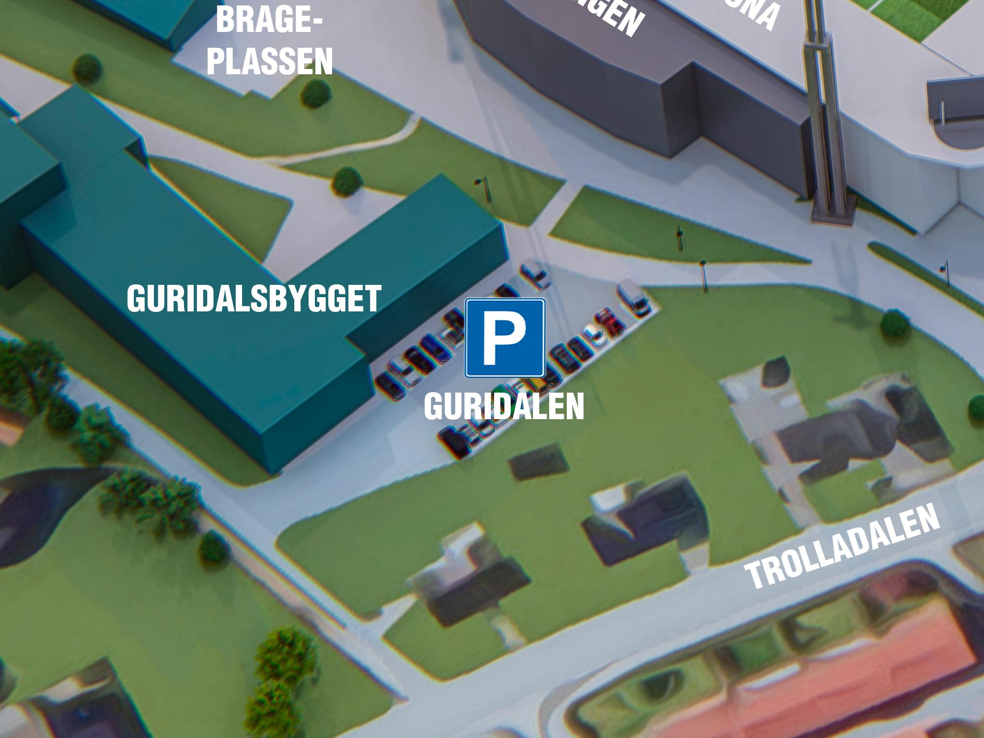Parkering Guridalen - Beste parkering om du skal til: Høgskulen på Vestlandet