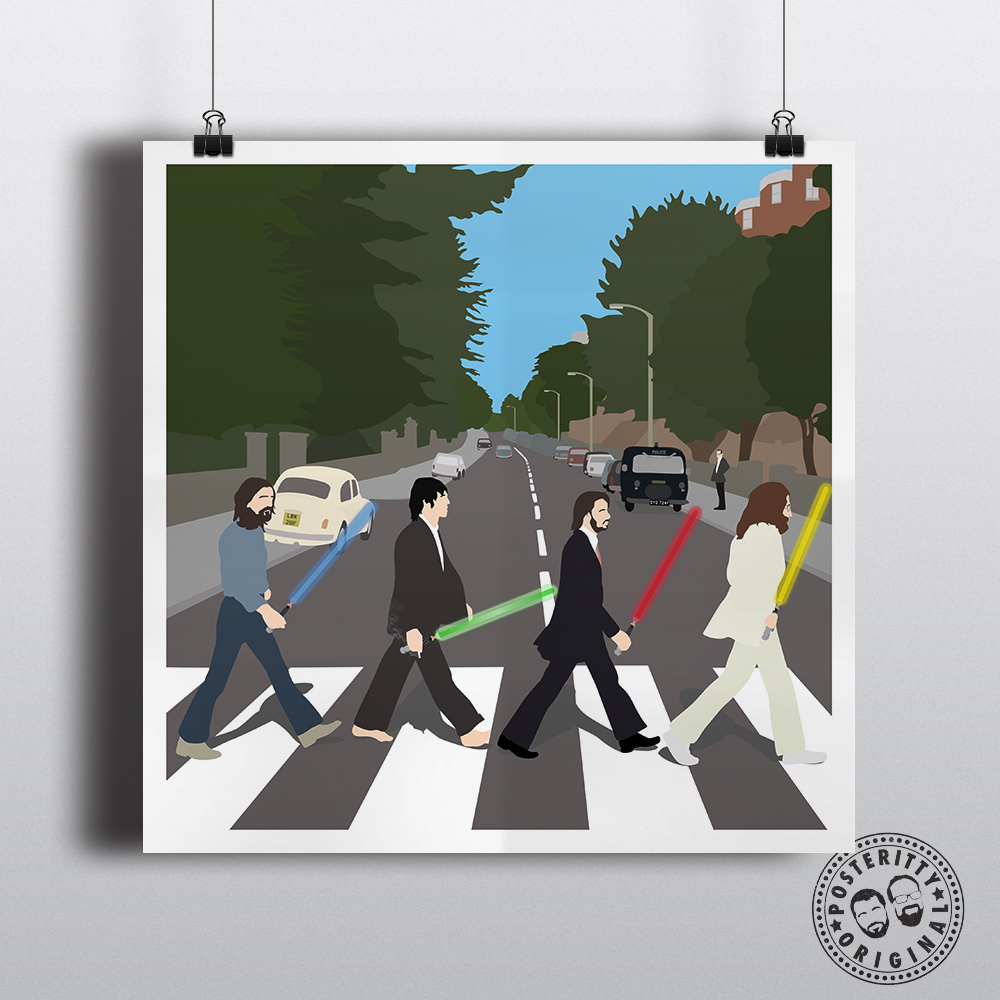 Star Wars Abbey Road Mashup Beatles Poster