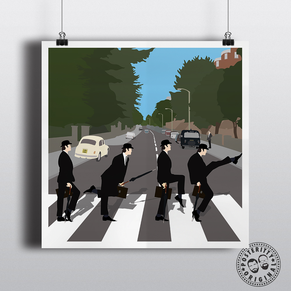 silly walks abbey road beatles posteritty mashup