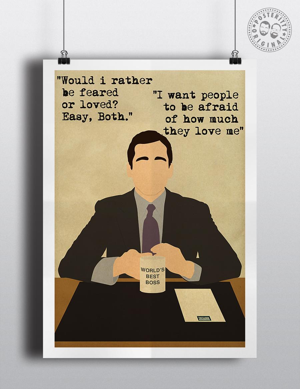 Minimalist Poster Art Posteritty Office Quotes Sergio Georgini DAVID BRENT