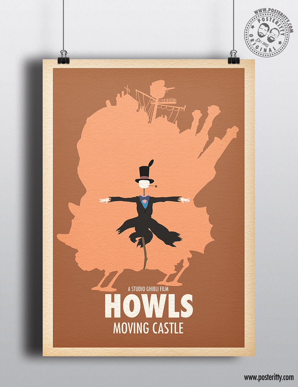 FILM COMPILATION Minimalist Studio Ghibli Movie Poster Minimal Posteritty Art