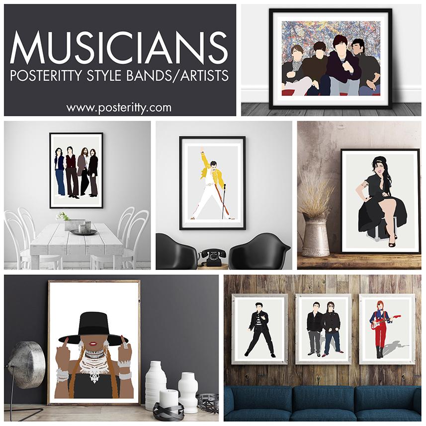 MINIMALIST MUSICPOSTERS -