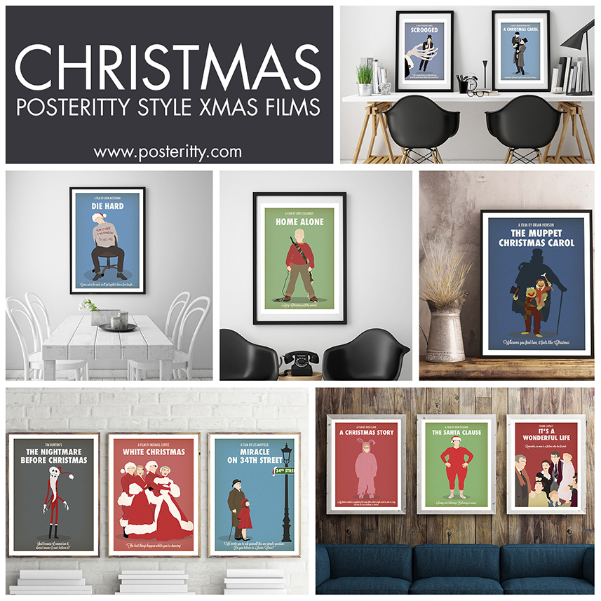 MINIMALIST CHRISTMAS POSTERS -