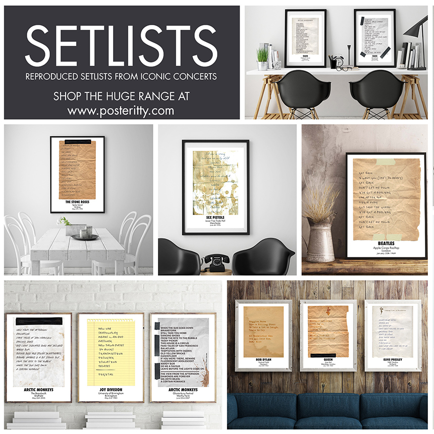 REPRODUCED SETLISTS -