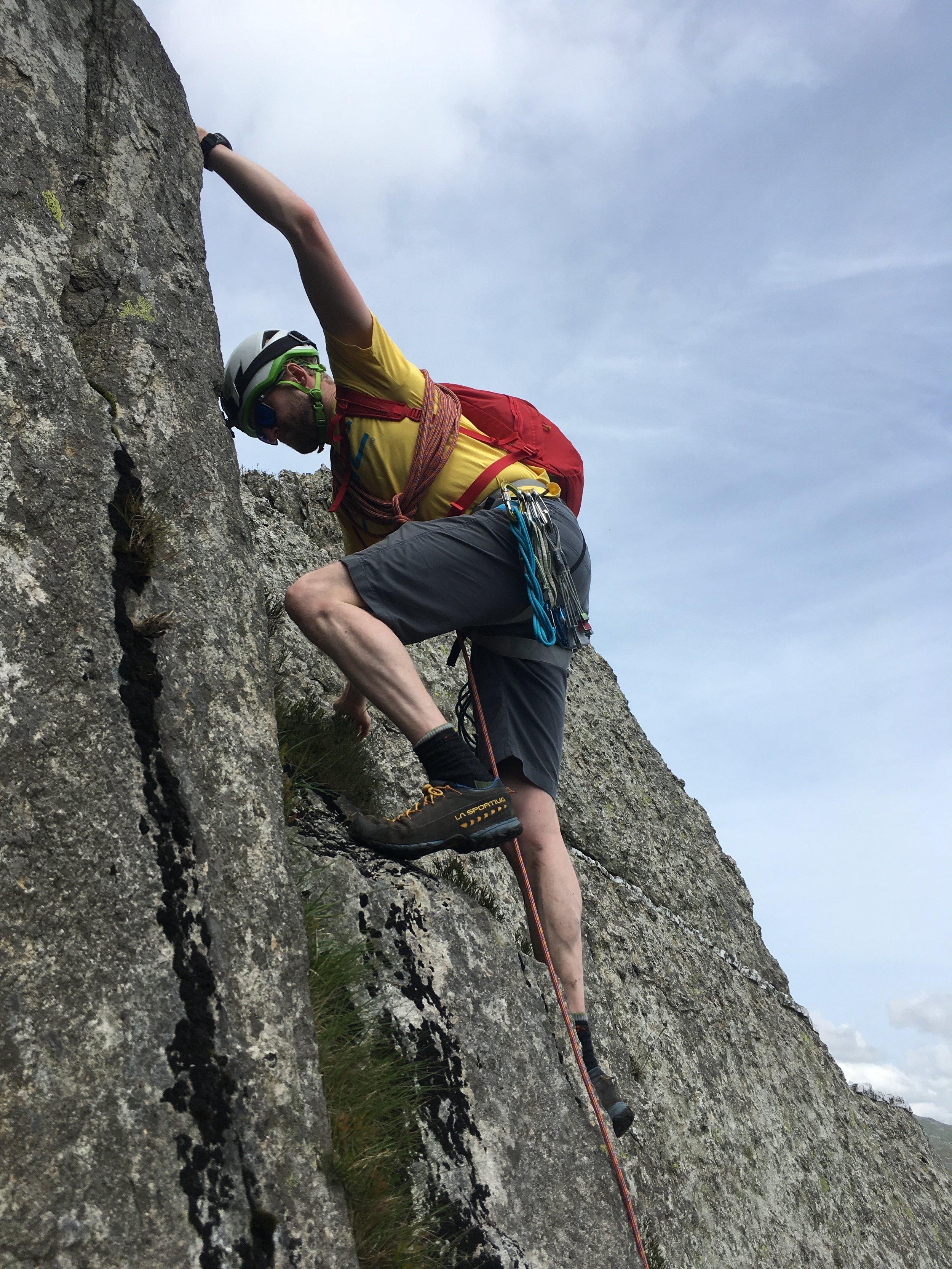 Scrambling on Tryfan, Snowdonia