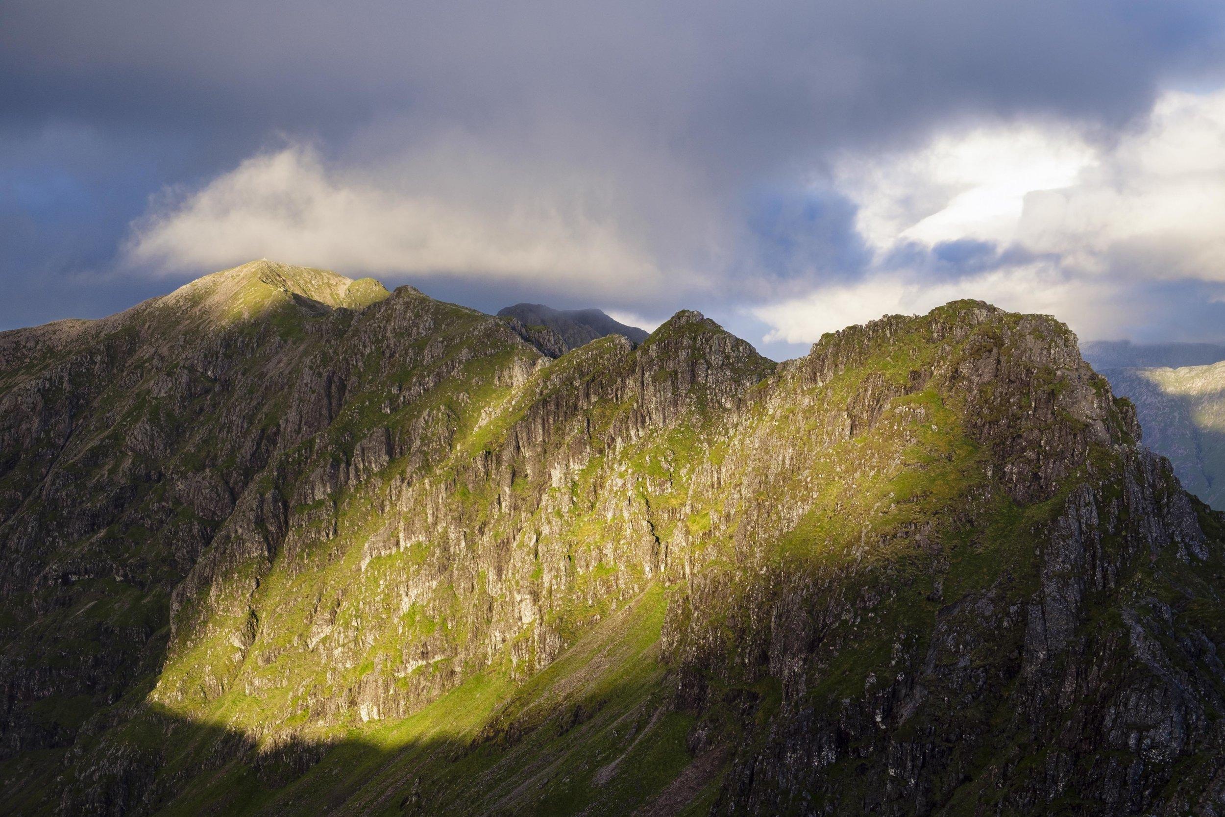 The Aonach Eagach Ridge, Glencoe.
