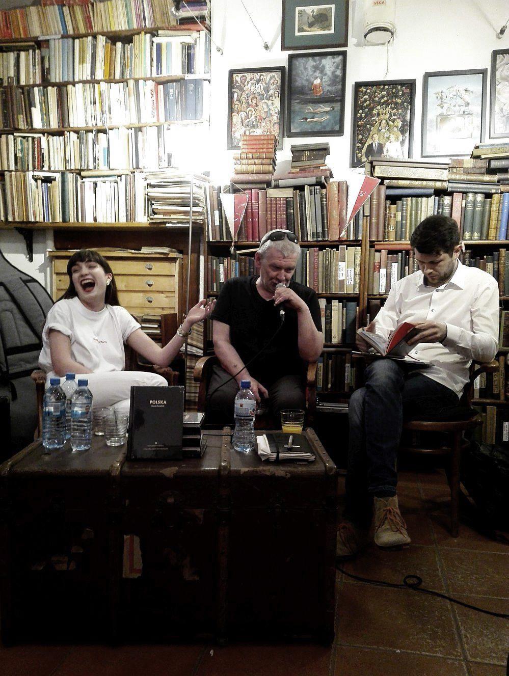 Antykwariat Kwardyga w Warszawie, spotkanie autorskie, podczas którego wszystkie trzy prace były po raz ostatni razem.