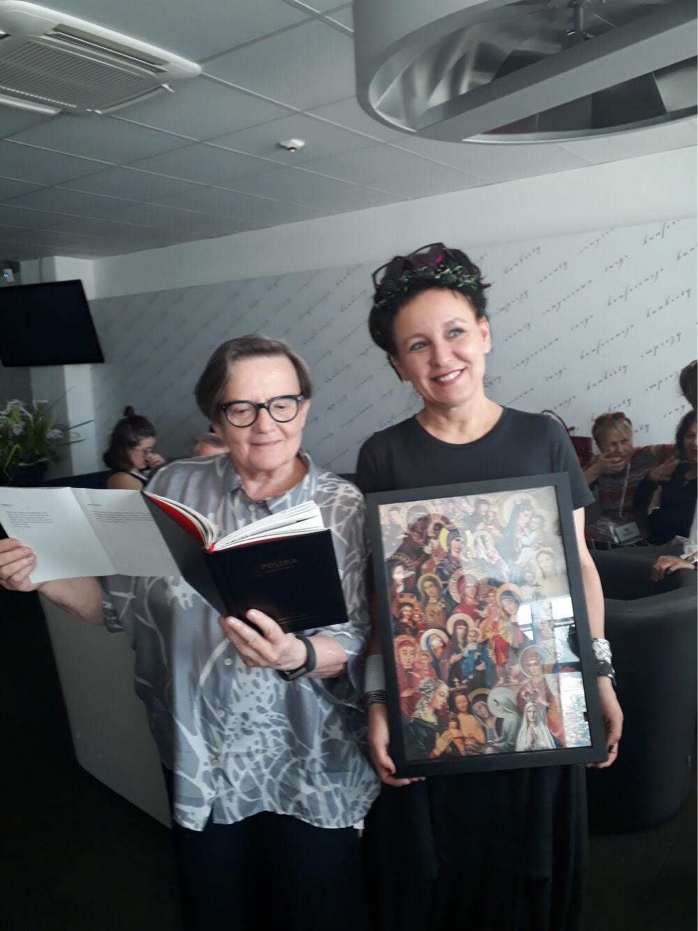 Agnieszka Holland i Olga Tokarczuk
