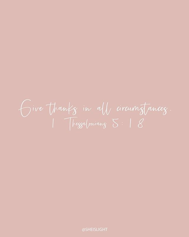GIVE THANKS IN ALL CIRCUMSTANCES. 👇🏼 ⠀⠀⠀⠀⠀⠀⠀⠀⠀⠀⠀⠀⠀ I don't know what giants you're facing right now - what pain or hurt you're going through, what frustration you're feeling, or what unforgiveness you're afraid to let go of. ⠀ ⠀⠀⠀⠀⠀⠀⠀⠀⠀⠀⠀⠀⠀ But I do know that our God is a good God. And I know that he is in the business of making broken things beautiful. So give your mess over to him today - he wants to take it. ⠀ ⠀⠀⠀⠀⠀⠀⠀⠀⠀⠀⠀⠀⠀ And give thanks to him in all circumstances, knowing that  because Jesus died on the cross and rose again, you have joy ahead of you! 🙌🏼⠀ ⠀⠀⠀⠀⠀⠀⠀⠀⠀⠀⠀⠀⠀ Tag your ladies to encourage them. ⠀ ⠀⠀⠀⠀⠀⠀⠀⠀⠀⠀⠀⠀⠀ Xo, @elise_hodge⠀ ⠀⠀⠀⠀⠀⠀⠀⠀⠀⠀⠀⠀⠀ #sheislight