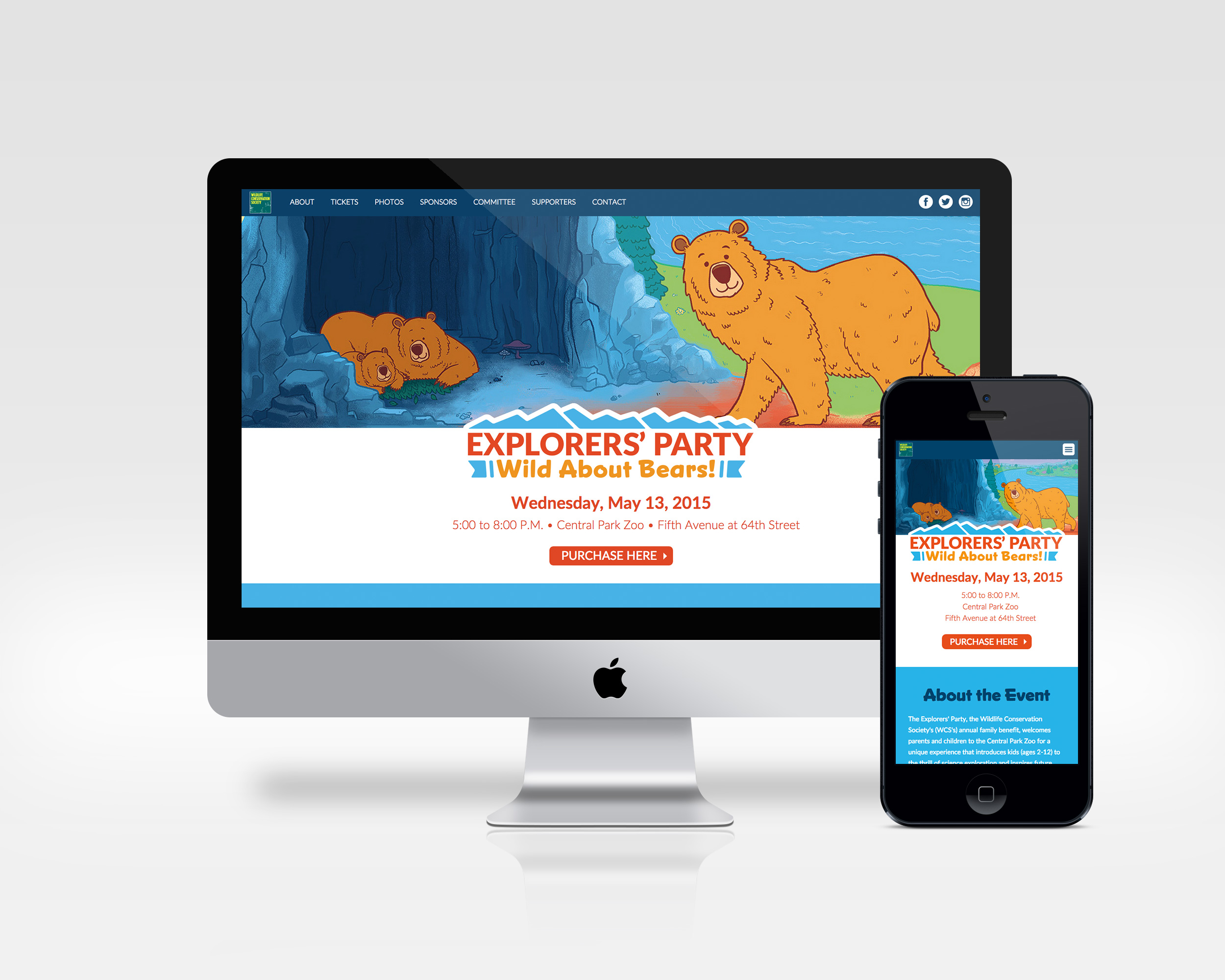 explorers' party   art direction, ux, development   Microsite for annual fundraising event at the Central Park Zoo.   View Project
