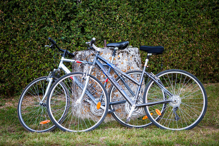 Adult bikes for chateau guests