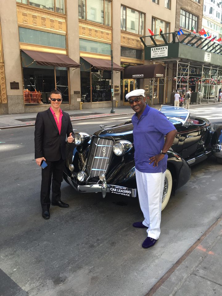 Paul Maloney with Ronald Rollieson and his 1936 Auburn 850 Supercharged!
