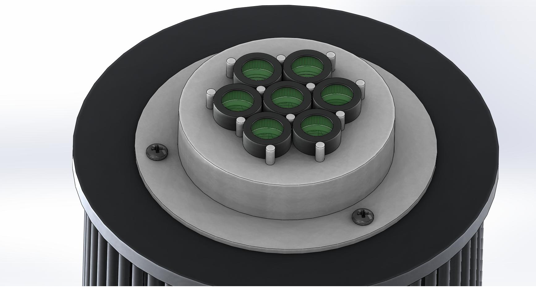 seven LED array (3D printed under-hat version).png