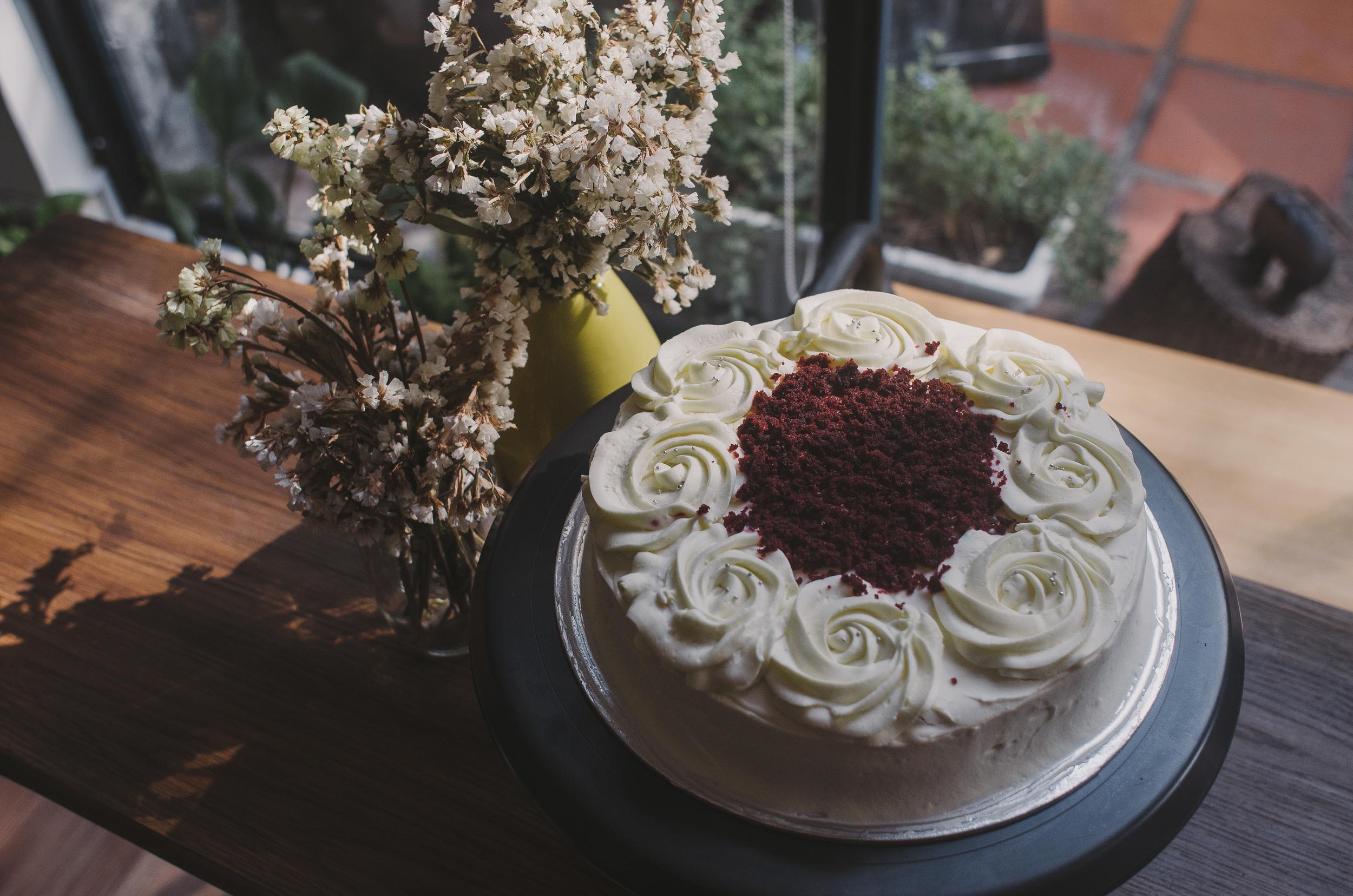 Red Velvet Cake & Cream Cheese  18cm : 580.000 VND