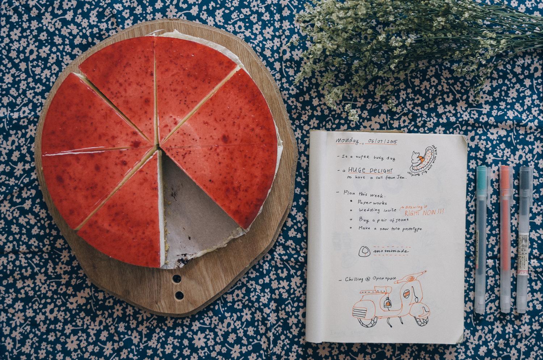 Strawberry Cheesecake   16cm: 470.000 VND   18cm: 500.000 VND