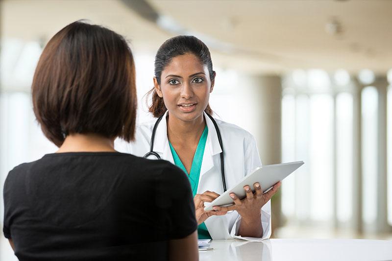 Doctor testing patient
