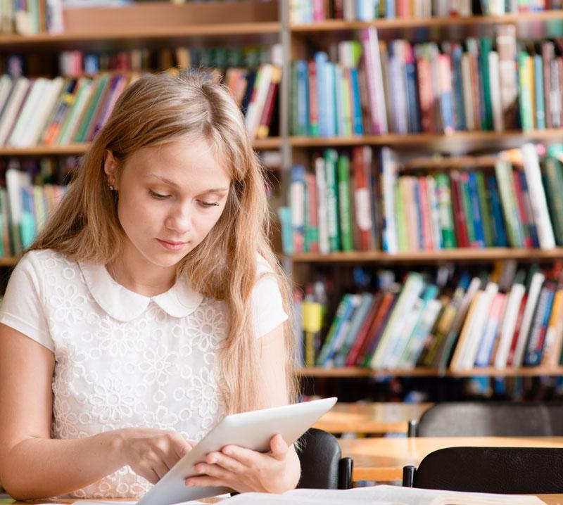 Student taking depression test