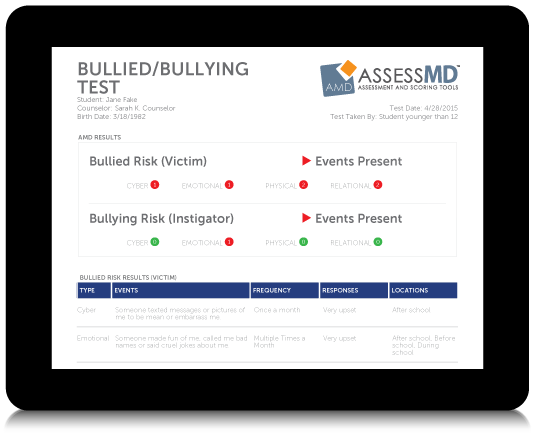 Bully Results on Tablet