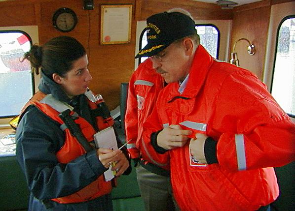 Antoinette Biordi from New 12 interviews USCG Captain Croce
