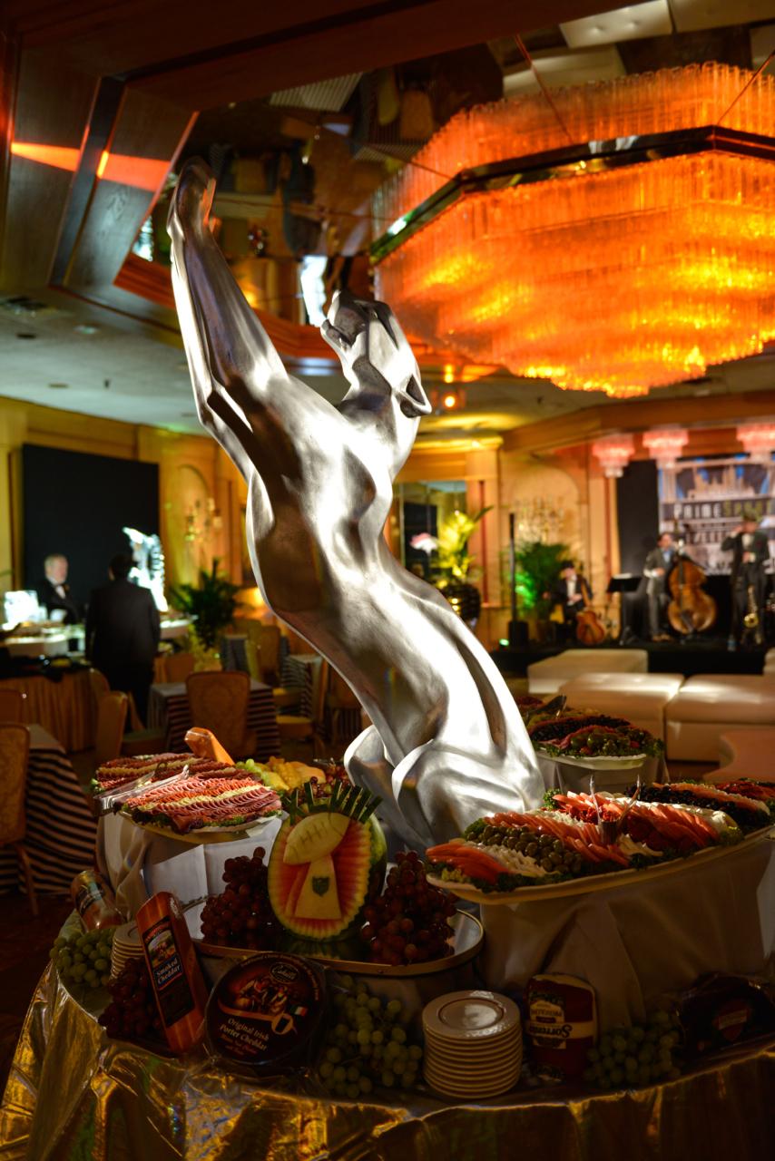 Eggsotic Events Super Bowl Theme Decor Great Gatsby Theme Event Design Silver Puma 1.jpg