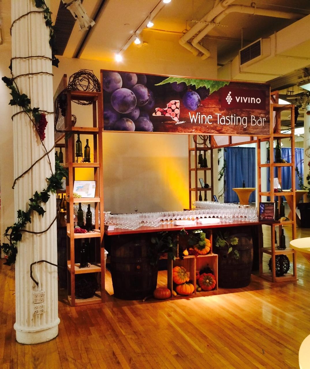 Bar Rental NJ NYC Eggsotic Events Wine Bar with Shelves Vineyard Theme 1.jpg