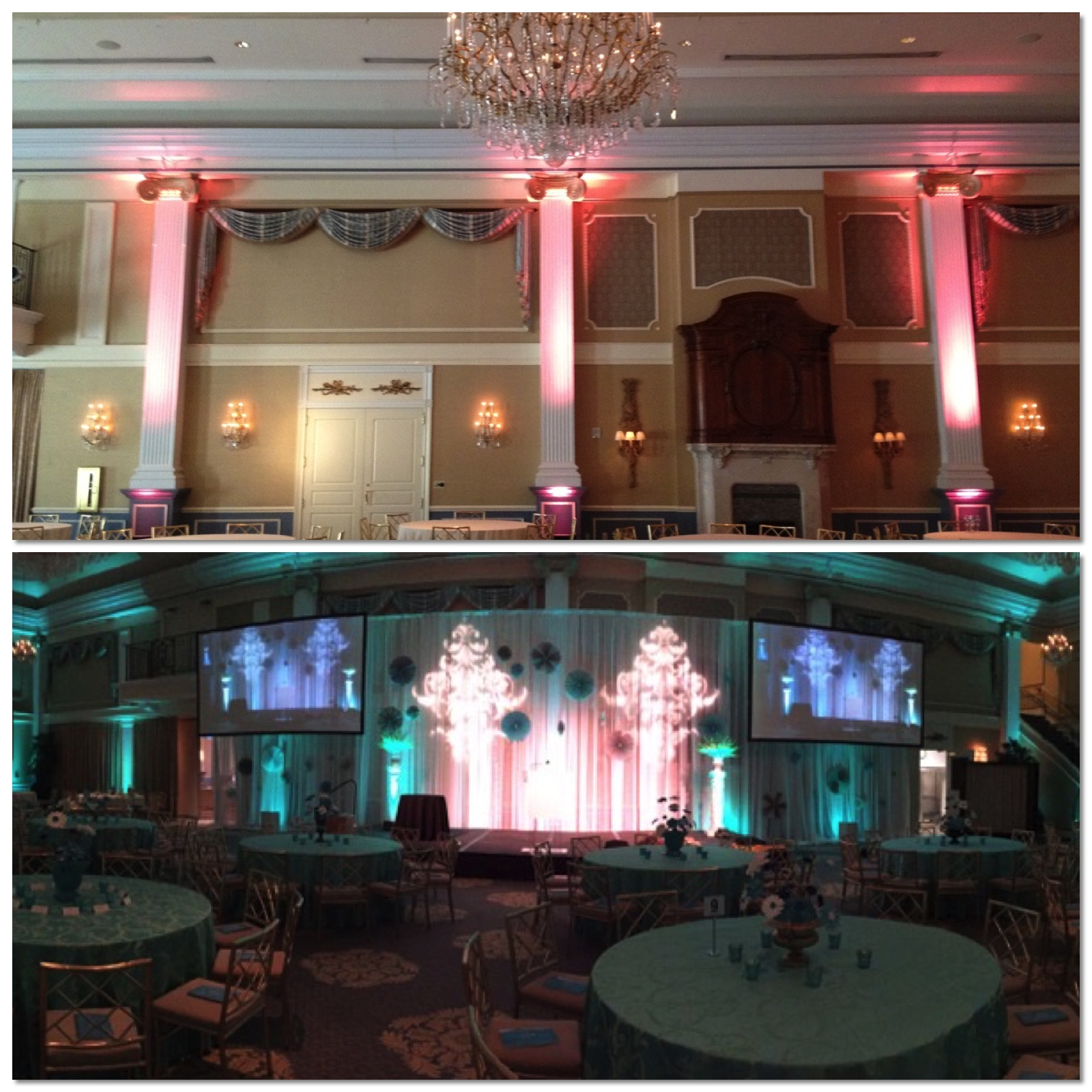 The Palace Stage Design Before and After - Eggsotic Events NJ NYC Event Design Lighting Decor Drape Rental NJ NYC .jpg