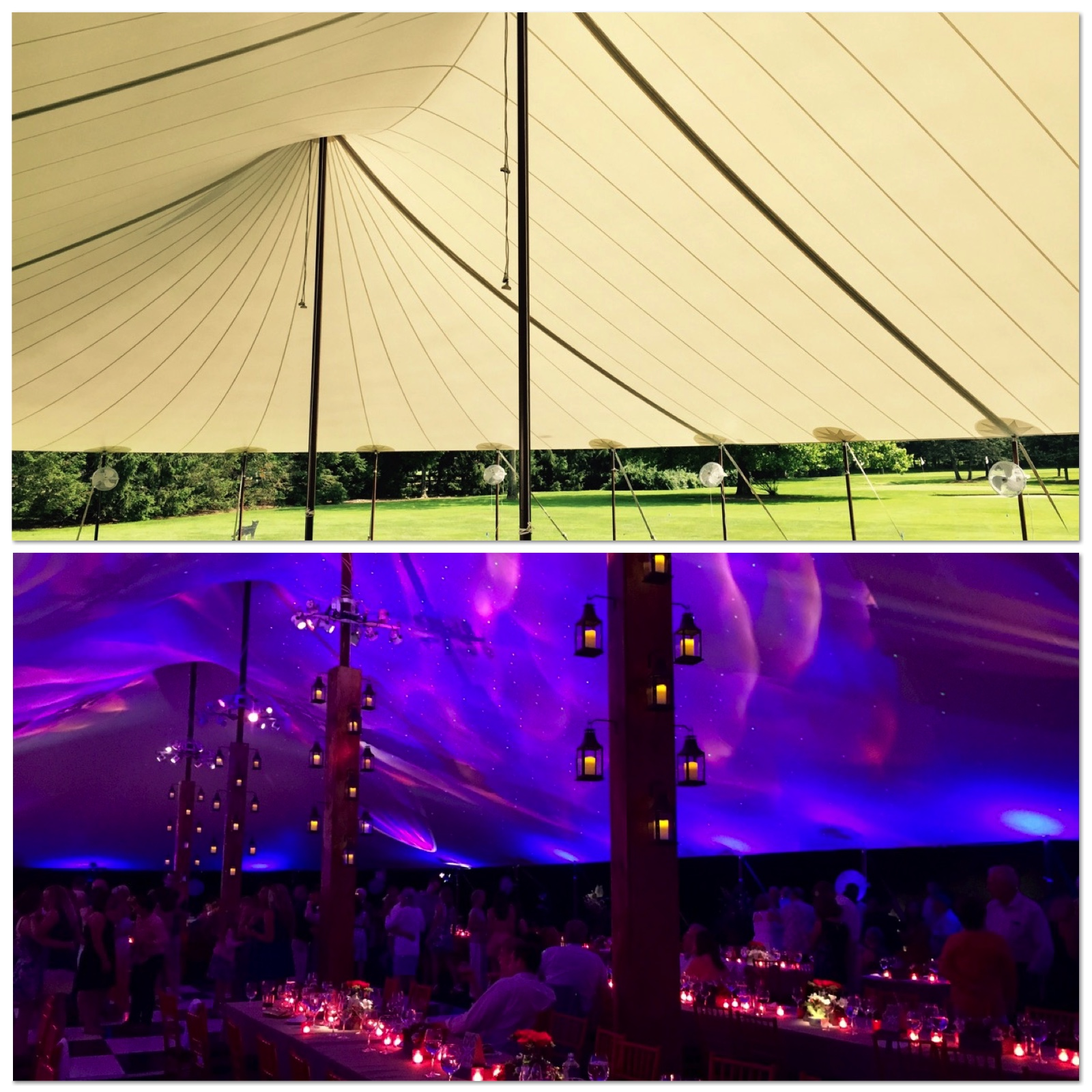 Tent Wedding Lighting Columns Starry Night Sky Lighting Centerpieces Candles Decor Design Before and After - Eggsotic Events NJ NYC Event Design Lighting Decor Drape Rental NJ NYC .jpg