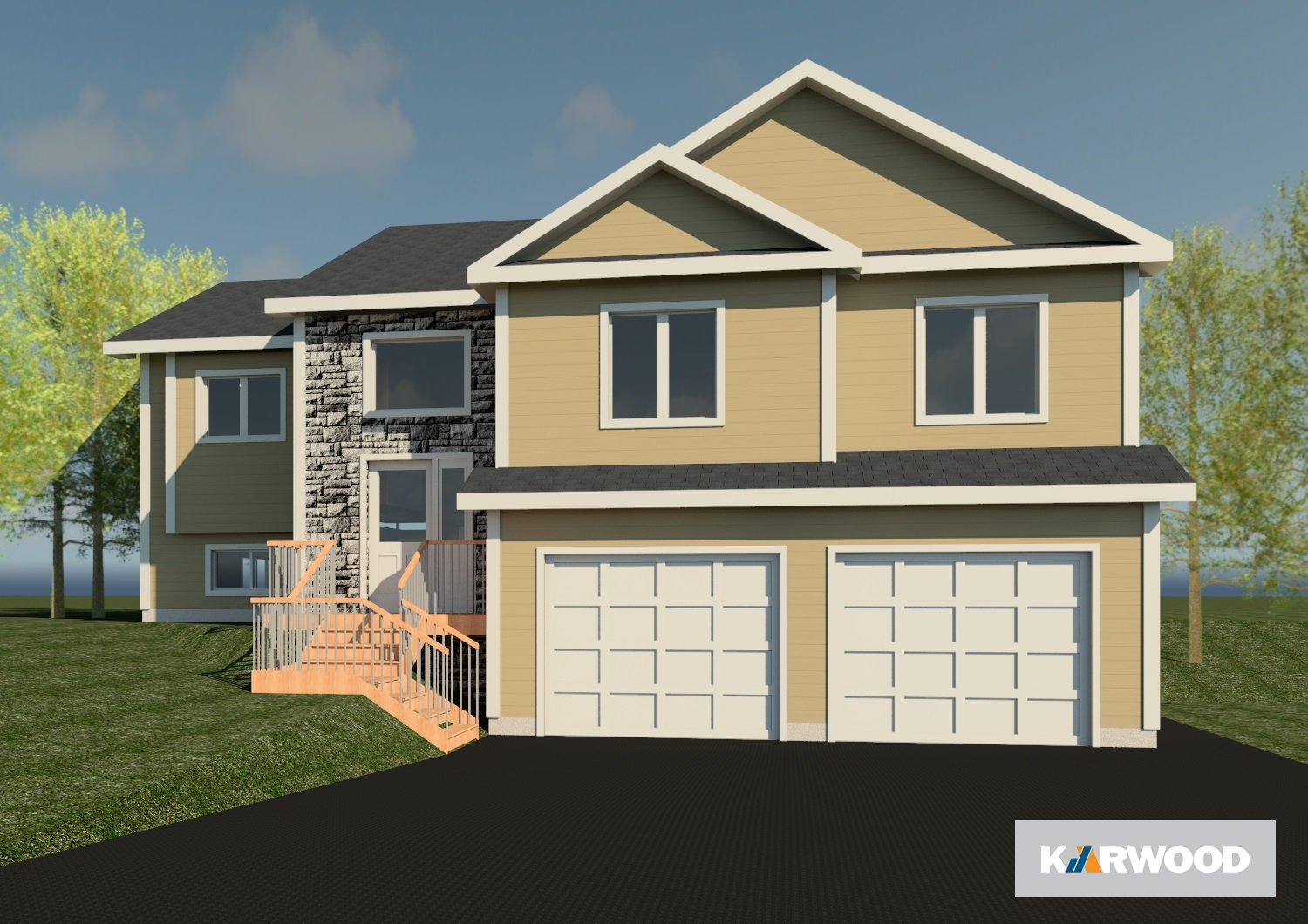 3 BEDROOMS  •  2 BATHROOMS  •  DOUBLE GARAGE  •  1414 SQ FT