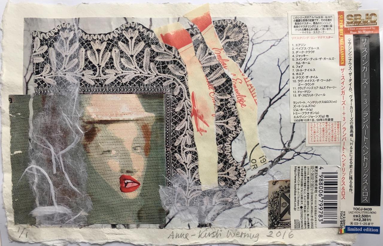 Collage på kluteapir. Format: 22 X 14 cm.