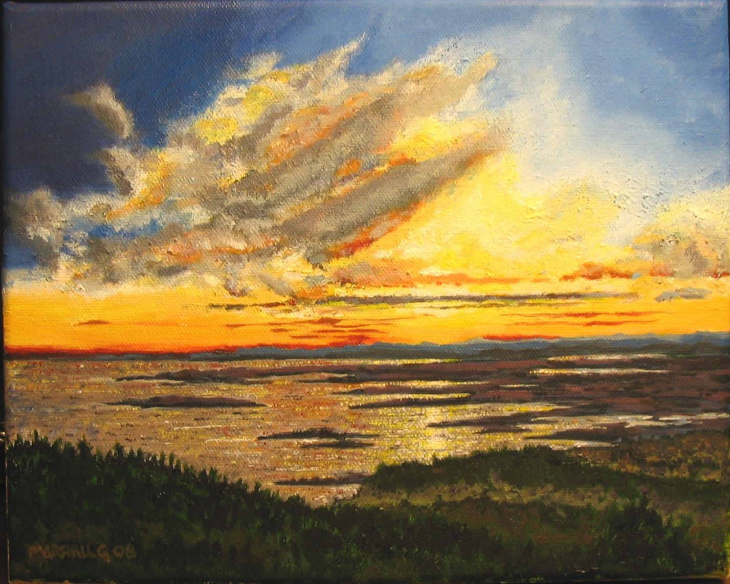 Sunset over the Maine Coast