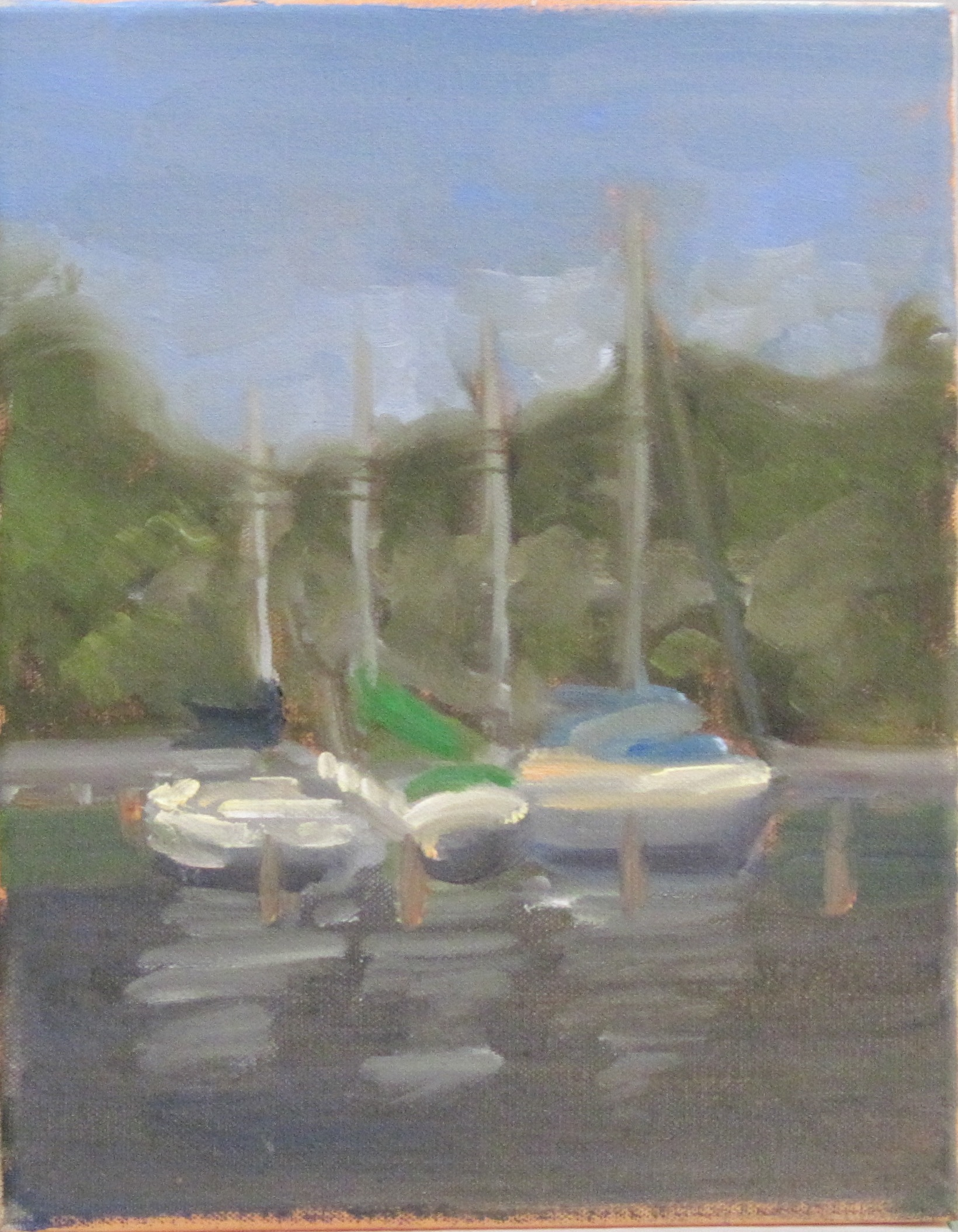 Sailboats on Solomon's Island, MD - study