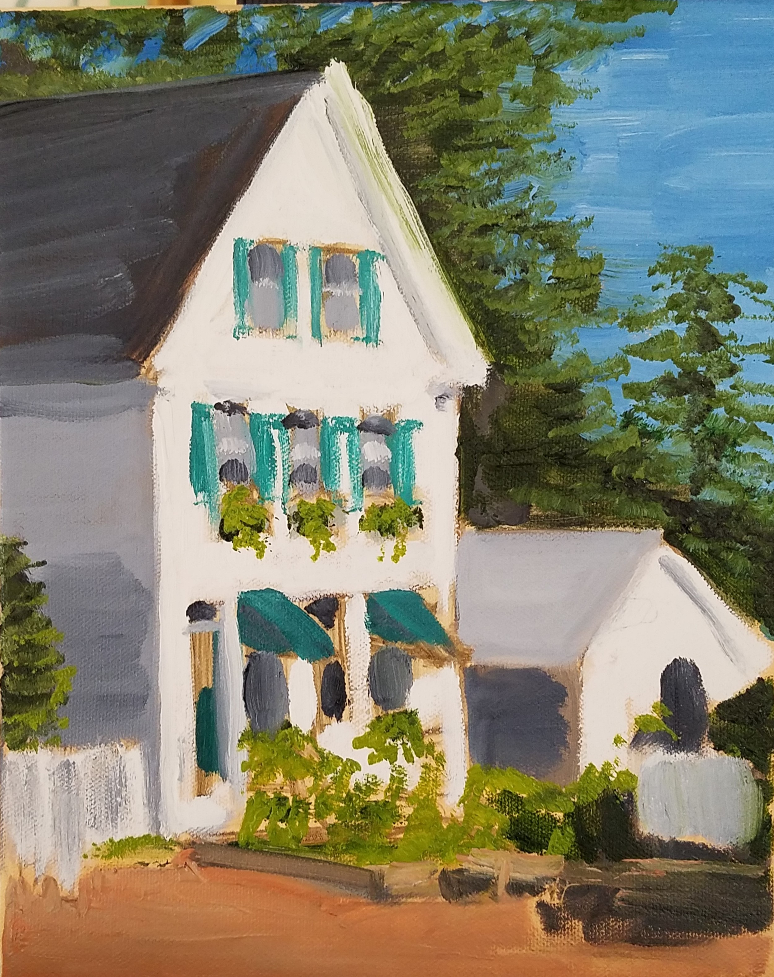 House in Somesville, Mt Desert Island - in progress