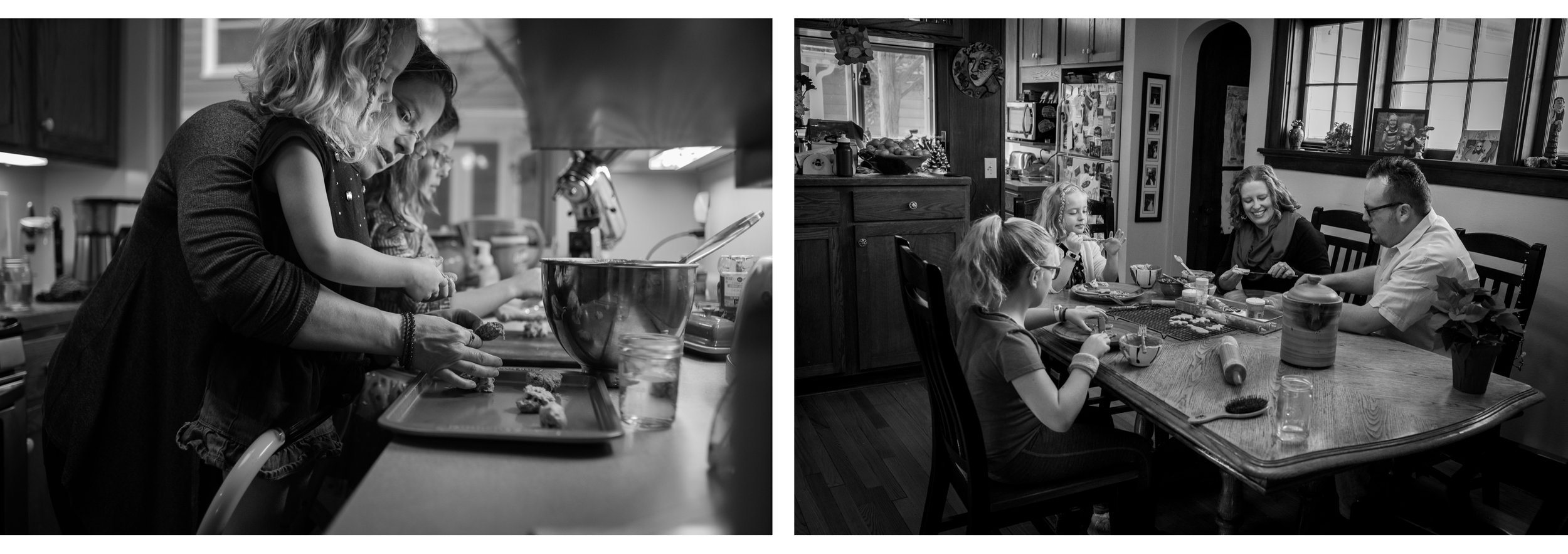 The Waggles made cookies back in 2016 (left) and again in 2018 (right). This last time it was fun to see Mom sit down and engage in conversation. The girls are so much more independent now.