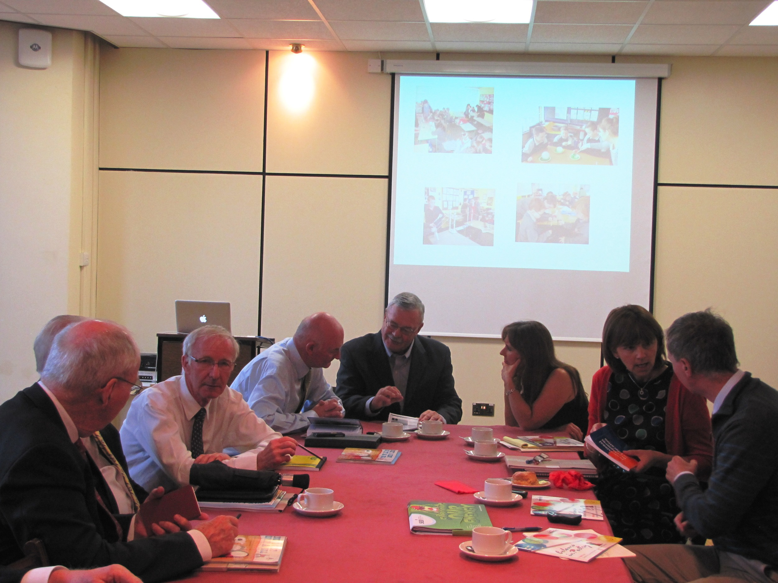 Board Members meet with St. Patrick's College Staff during the summer 2014 Leadership Mission