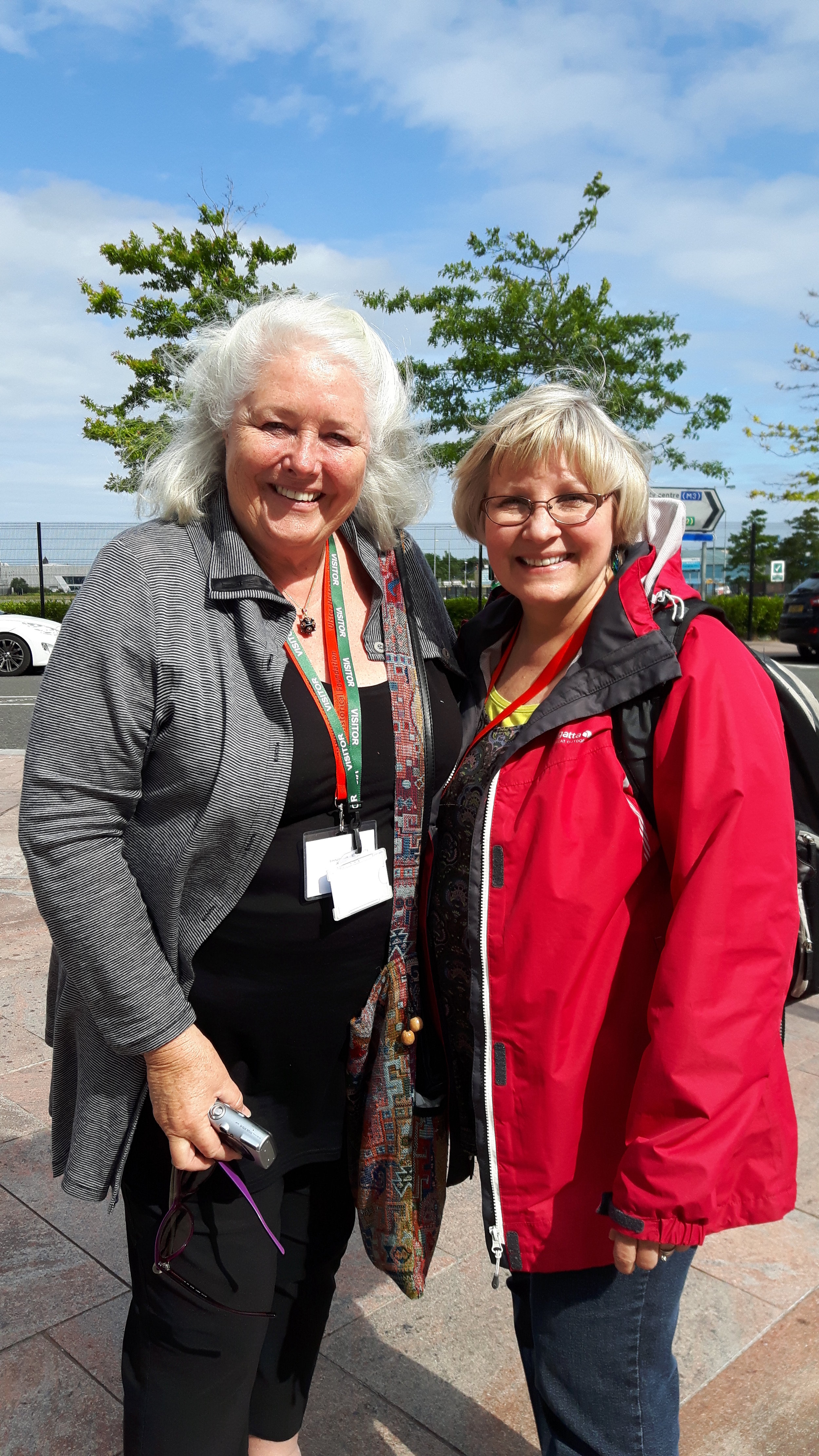 Mary-Ann Cohn (Australia) and Melanie McLennan (Canada) who discovered they were long lost cousins through meeting at our family history conference in 2016.