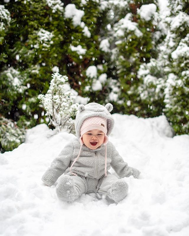 Baby Sasquatch playing in the snow. #snowday #pnwonderland #pnw
