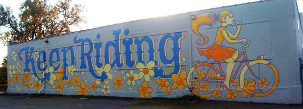 Keep Riding Mural 2010 - Creative Lighting Building, St. Paul, MN - Collaboration with Chank Diesel