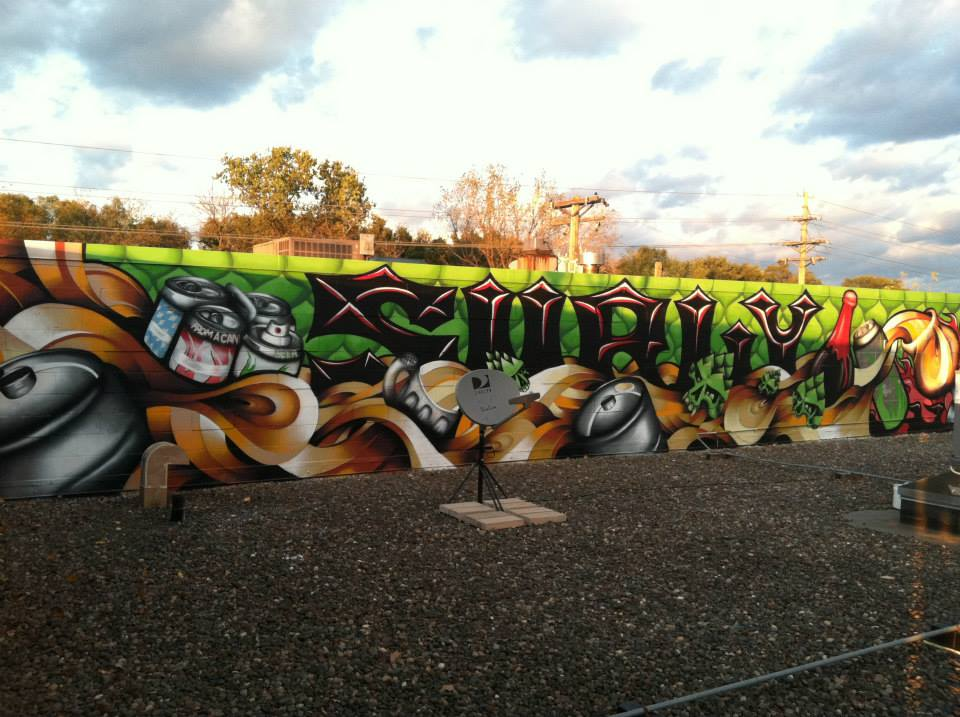 """Surly Tap Room Mural 2011 - Brooklyn Center, MN - Collaboration with Josh """"Jawsh"""" Lemke"""