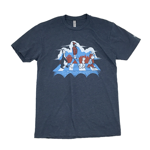 MN Abbey Road - 3 Color   Next Level - Heather Navy 60% Cotton/40% Poly Shipping to the US only