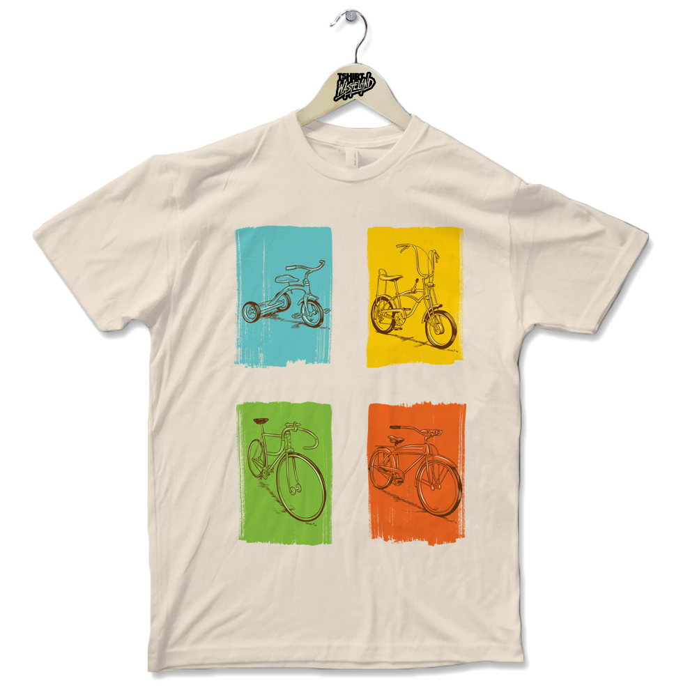 Keep Biking   Screenprinted Light weight premium tee Available on Cream. Banana Cream, Light Blue, and White
