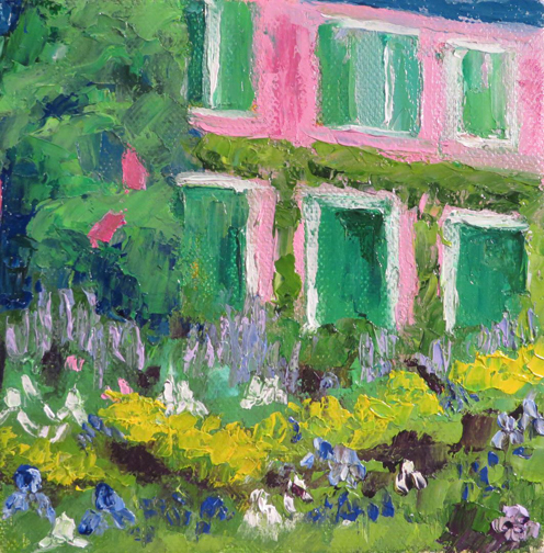 Monet's Garden 6 x6 Oil by Ann McCann ©2015