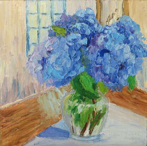 Blue Flower Interior by Ann McCann (c) 2015