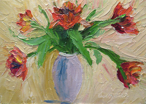 Orange Tulips by Ann McCann (c) 2015