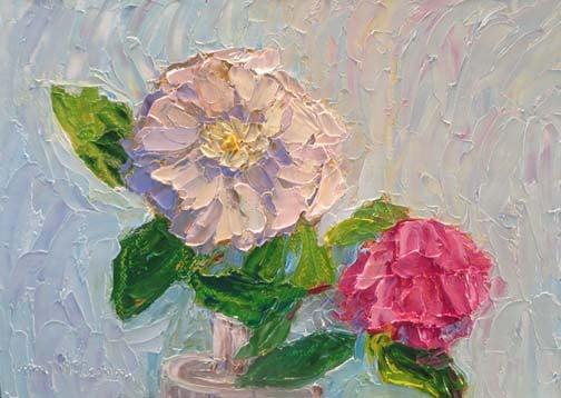 White & Pink Roses (c)Ann McCann 2015